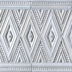 Ceramic Art Tile - Veranda - Ann Sacks Tile & Stone - Inspired by materials like rattan, wicker and bamboo, the Veranda Collection is both modern and tradition and earthy all the same time. I love the delicateness of this tile - it reminds me of vintage jewelry.