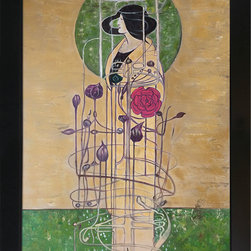 """overstockArt.com - Mackintosh - Design for a Wall Decoration - 24"""" X 36"""" Oil Painting On Canvas Hand painted oil reproduction of a famous Mackintosh design, Design for a Wall Decoration . Today the painting has been carefully recreated detail-by-detail, color-by-color to near perfection. Charles Rennie Mackintosh (7 June 1868 - 10 December 1928) was a Scottish architect, designer, water colourist and artist. He was a designer in the post impressionist movement and also the main representative of Art Nouveau in the United Kingdom. He had considerable influence on European design. He was born in Glasgow and he died in London."""