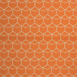 Abstract Pattern Red-Orange Indoor/Outdoor Rug BA07