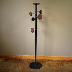 Kraftig Coat Stand - Handmade coat rack of steel and walnut.
