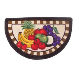 HLC.ME - HLC.ME Fruit Platter Kitchen Rug with Anti-Slip Rubber Backing- 17.5 by 30 Inche - One of the easiest ways to freshen up and improve the look and feel of your Kitchen is to add a new Kitchen Rug. For ultimate comfort Top made of 100% Polypropylene. For Non-slip feature bottom side made of 100% rubber. This HLC.ME Kitchen Rug will bring any kitchen freshness and change with its colors  print design  and unique fabric. This beautiful Slice rug measures 17.5 by 30 Inches. Wonderful quality and beautiful vibrant coloring sure to bring out the best in your fruity themed kitchen.