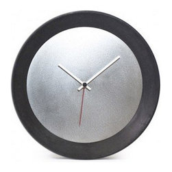 Modern Black Concrete Wall Clock - This wall clock is crafted in concrete.