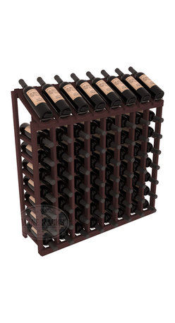 Wine Racks America - 64 Bottle Display Top Wine Rack in Redwood, Walnut Stain - Make your best vintage the focal point of your cellar or store. Eight of the best bottles are presented at 30 degree angles. Our wine cellar kits are constructed to industry-leading standards. You'll be satisfied. We guarantee it. Display top wine racks are perfect for commercial or residential environments.