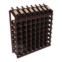 Wine Racks America® - 64 Bottle Display Top Wine Rack in Redwood, Walnut Stain - Make your best vintage the focal point of your cellar or store. Eight of the best bottles are presented at 30º angles. Our wine cellar kits are constructed to industry-leading standards. You'll be satisfied. We guarantee it. Display top wine racks are perfect for commercial or residential environments.