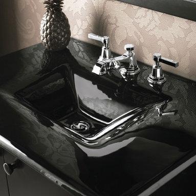 Sleek Black Sink -