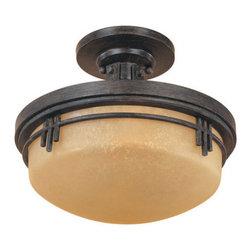 Designers Fountain - Designers Fountain 82111 Asian Two Light Down Lighting Semi Flush Ceiling Fixtur - Features: