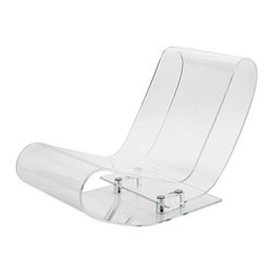 Kartell - LCP Lounge Chair by Kartell - The Kartell LCP Lounge Chair is formed from a single extrusion of clear acrylic plastic which folds back onto itself in a spiral to create a radically innovative lounge chair. LCP is elastic, soft and resistant even if it exudes an intangible and evanescent quality. The LCP Lounge Chair features transparent batch-dyed PMMA material. Founded in 1949 by Giulio and Anna Castelli, Kartell has become the world leader—and innovator—in the realm of molded plastic furniture. Headquartered in Italy, Kartell works with designers worldwide to create their distinctive line of modern furniture, lighting and accessories. Dedication to discovering and employing new technologies and manufacturing methods results in a growing line of durable, stylish and cutting edge products.