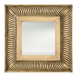 Arteriors Home - Malin Mirror - Malin Mirror has a wood carved frame clad in Antique Brass. Available in a square and rectangle shape with a saw tooth hanger. ADA compliant. Square: 15 inch width x 15 inch height x 2 inch depth. Rectangle: 15 inch width x 31 inch height x 2.5 inch depth.