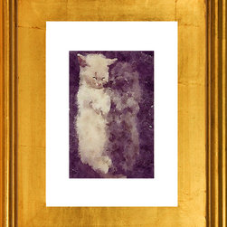 Let's Cuddle- Framed Artwork, Cat Love, Fine Art Print - A beautiful limited edition fine art print comes signed, matted, and framed. Direct from the artist this piece features a stunning high quality hand made gold wood frame. The high quality print is produced by the artist in very limited numbers on professional archival paper. Less then 250 prints are made. Guaranteed to last, This is a piece you will love to own. Simply stunning, the photos do not do it justice. Total size of the frame is 12.5 x 10.5 x 1.5 inch deep. This is a great way to start or add to an existing collection!