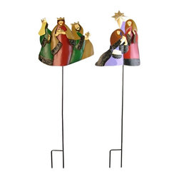 Danya B - Set of Two Laminated Nativity Figure Scene Flower Garden Stakes - This gorgeous Set of Two Laminated Nativity Figure Scene Flower Garden Stakes has the finest details and highest quality you will find anywhere! Set of Two Laminated Nativity Figure Scene Flower Garden Stakes is truly remarkable.