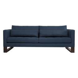 "Hendrix 86"" Sofa, Earl Gray - A fresh twist on the classic ski leg sofa. The Hendrix' sharp lines make for an eye catching and great comfortable feel for all homes."
