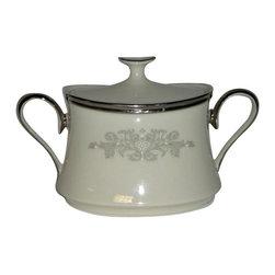 Lenox - Lenox Snow Lily  Sugar Bowl W/Lid - Lenox Snow Lily  Sugar Bowl W/Lid