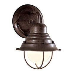 "The Great Outdoors - The Great Outdoors GO 71166 1 Light 9"" Height Outdoor Wall Sconce from the Wyndm - Single Light 9"" Height Outdoor Wall Sconce from the Wyndmere CollectionFeatures:"