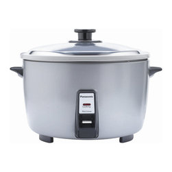 Panasonic - Jumbo Rice Cooker-Party Size, Non-Stick, Stainless Lid - 23-Cup uncooked rice capacity
