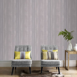 Graham & Brown - Laddered Stripe Wallpaper - This organic striped wallpaper is highlighted with metallic detail to the stria that really catches the light so if you want to create a moody look go for a darker palette or to add light to a darker room, this soft grey colourway would be perfect for the latter. This design co ordinates perfectly with the linen texture design so you can create your perfect look.