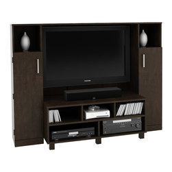 Ameriwood - Ameriwood Home Entertainment Center in Black Forest - Ameriwood - Entertainment Centers - 1619012PCOM