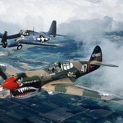 Magic Murals - World War II  Planes Wallpaper Wall Mural - Self-Adhesive - Multiple Sizes - Mag - World War II  Planes Wall Mural