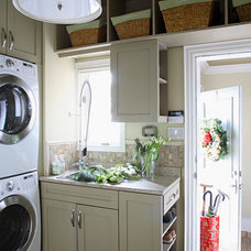 Asian Laundry Room by c3d design inc