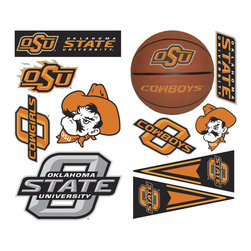York Wallcoverings - NCAA Oklahoma State Cowboys 23pc College Wall Stickers Set - Features: