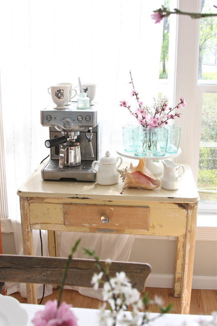 espresso machine on end table home remodeling