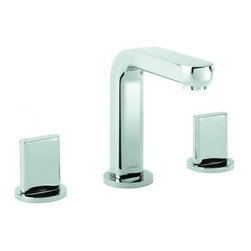 "Hansgrohe - Hansgrohe 31063821 Brushed Nickel Metris S Metris S Bathroom Faucet - Features:  All brass faucet body and handle construction Fully covered under Hansgrohe s limited lifetime warranty Hansgrohe faucets are designed and engineered in Germany Superior finishing process - finishes will resist corrosion and tarnishing through everyday use Double handle operation – handles rest on 1/4 turn valves Low lead compliant- meeting federal and state regulations for lead content WaterSense Certified product- using at least 30% less water than standard 2.2 GPM faucets, while still meeting strict performance guide lines. Designed for use with standard U.S. plumbing connections All hardware needed for mounting is included with faucet Includes metal pop-up drain assembly  Specifications:  Overall Height: 5-3/4"" (measured from counter top to the highest part of the faucet) Spout Height: 4-5/8"" (measured from counter top to the spout outlet) Spout Reach: 5-1/8"" (measured from the center of the faucet base to the center of spout outlet) Mounting Type: Widespread Number of Holes Required for Installation: 3 Faucet Centers (Distance Between Handle Installation Holes): 8"" Flow Rate: 1.5 GPM (gallons-per-minute) Maximum Deck Thickness: 1-1/8"" Metal knob handles included with faucet  Variations:   31063: This model 31161: Vessel version of this model with side lever handle 31102: Single hole version of this faucet with electronic sensor and temperature control 31101: Single hole version of this model with electronic sensor 31067: Widespread version of this faucet with knob handles 31060: Single hole version of this model with lever handle  About Hansgrohe:  Founded in German"