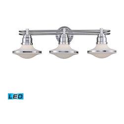 Elk Lighting - Elk Lighting 17052/3-LED Retrospectives Transitional Bathroom Light - Elk Lighting 17052/3-LED Retrospectives Transitional Bathroom Light in Polished Chrome
