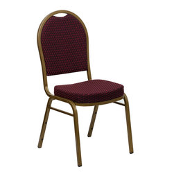 Flash Furniture - Hercules Series Dome Back Stacking Banquet Chair With 2.5'' Thick Seat - This is one tough chair that will withstand the rigors of time. With a frame that will hold in excess of 500 lbs., the HERCULES Series Banquet Chair is one of the strongest banquet chairs on the market. You can make use of banquet chairs for many kinds of occasions. This banquet chair can be used in Church, Banquet Halls, Wedding Ceremonies, Training Rooms, Conference Meetings, Hotels, Conventions, Schools and any other gathering for practical seating arrangements. The banquet chair is also great for home usage from small to large gatherings. For any environment that you use a banquet chair it will put your guests at a greater comfort level with the padded seat and back. Another advantage is the stacking capability that allows you to move the chairs out of the way when not in use. With offerings of comfort and durability, you can be assured that you can enjoy this elegant stacking banquet chair for years to come.