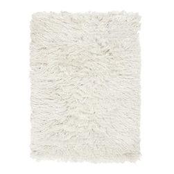 Surya - Surya 2' x 3' Whisper Designer/Plush Rectangle Rug, Winter White (WHI1005-23) - Surya WHI1005-23 2' x 3' Whisper Designer/Plush Rectangle Rug, Winter White