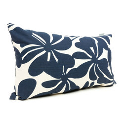Majestic Home - Outdoor Navy Blue Plantation Small Pillow - Add a splash of color and a little texture to any environment with these great indoor/outdoor plush pillows by Majestic Home Goods. The Majestic Home Goods Small Pillow will add additional comfort to your living room sofa or your outdoor patio. Whether you are using them as decor throw pillows or simply for support, Majestic Home Goods Small Pillows are the perfect addition to your home. These throw pillows are woven from Outdoor Treated polyester with up to 1000 hours of U.V. protection, and filled with Super Loft recycled Polyester Fiber Fill for a comfortable but durable look. Spot clean only.