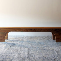 Scoop Bench by henrybuilt furniture - There is something so beautiful about this sturdy and elegant handmade wood bench. It reminds me of when Carrie first met Aiden in his furniture showroom on Sex and the City, drawn to the manly artist and craftsman who made beautiful and thoughtful furniture.
