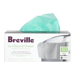 Breville Clean & Green Biodegradable Pulp Container Bag for Juicers, 30 Bags