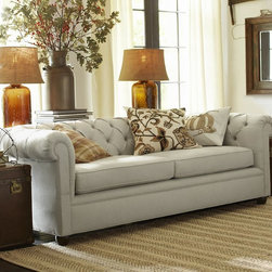 Chesterfield Grand Sofa - Comfort and style define our Chesterfield Collection, expertly crafted in America using many eco-friendly components. The sofa is detailed with deep button tufts and plush, sheltering arms.