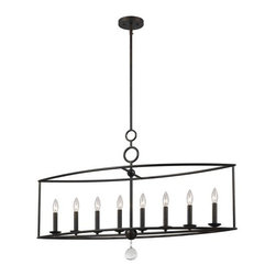 Crystorama Lighting Group - Crystorama Lighting Group 9168 Cameron 8 Light Candle Style Linear Chandelier - Specifications: