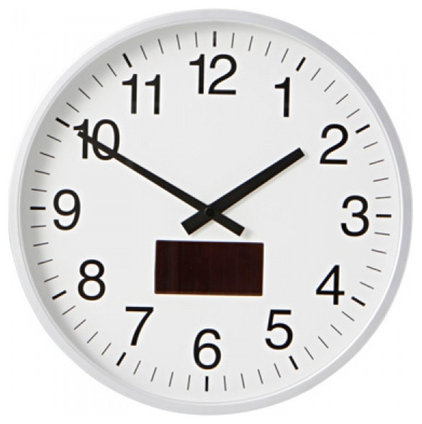 clocks Aluminium Solar Wave Wall Clock