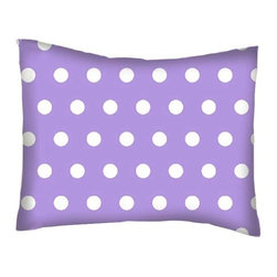 SheetWorld - SheetWorld Twin Pillow Case - Percale Pillow Case - Polka Dots Lavender - Twin pillow case. Made of an all cotton woven fabric. Side Opening. Features a beautiful 1/2 inch white dot print on a lavender background.
