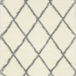 """nuLOOM - Shags Contemporary 9' 2"""" x 12' Grey Machine Made Area Rug Diamond Shag - Made from the finest materials in the world and with the uttermost care, our rugs are a great addition to your home."""