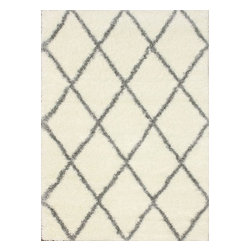 nuLOOM - Shags Contemporary Gray Machine-Made Area Rug, Diamond Shag - Made from the finest materials in the world and with the uttermost care, our rugs are a great addition to your home.