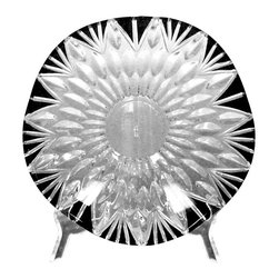 Dale Tiffany - Dale Tiffany Black Ridge Tiffany Crystal Decorative Bowls X-68008AG - From the Black Ridge Collection, this decorative Dale Tiffany crystal bowl features organic shaping and an eye-catching starburst pattern that draws the eye in. This classically stylized decorative bowl also features stark black coloring, which accentuates the pattern and completes the look.