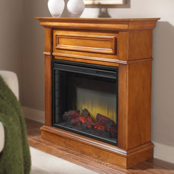 Pleasant Hearth - Pleasant Hearth Hawthorne Compact Electric Fireplace Multicolor - 238-560-65 - Shop for Fire Places Wood Stoves and Hardware from Hayneedle.com! The Pleasant Hearth Hawthorne Compact Electric Fireplace provides over 34-inches of mantle space and a randomly glowing ember bed for added ambiance that can be used with or without the heater. Of course when you do wish to use the heater a fan-forced air-heater will warm a room up to 400 square feet with 4 600 BTUs of soothing warmth. The solid wood fireplace also comes with a 23-inch firebox with LEDs 3 realistic flame settings 10 timer settings and 10 heat temperature settings to choose from. About GHP GroupGHP Group creates electric fireplaces accessories log sets and other heating options found in homes across America. With years of experience and a close attention to detail their products exceed industry standards of safety quality durability and functionality. Whether you're warming a room or just making a relaxing glow there's a GHP Pleasant Hearth product for you.