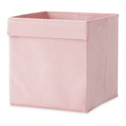 Real Simple - Real Simple Fabric Drawer in Pink - Real Simple Fabric Drawers are compatible with all Real Simple storage and system units (sold separately). Easily slips in and out of open-front storage compartments and shelves to provide hidden, organized storage for a variety of items.