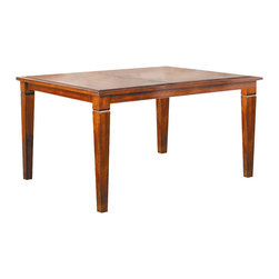 Lifestyle California - Avery Rectangular Dining Table - Butterfly leaf. Table extends another 18 in.. Made from wood. Made in Malaysia. Table: 48 in. L x 48 in. W