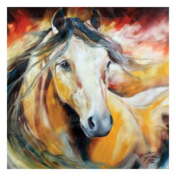 Westland - Buckskin Wild Canvas Wall Art Hanging Picture with Light Brown Horse - This gorgeous Buckskin Wild Canvas Wall Art Hanging Picture with Light Brown Horse has the finest details and highest quality you will find anywhere! Buckskin Wild Canvas Wall Art Hanging Picture with Light Brown Horse is truly remarkable.