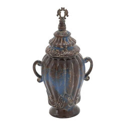 "Benzara - Ceramic Decorative 20""H Jar Decor for Traditional Home with Lid - Ceramic Decorative 20""H Jar Decor for Traditional Home with Lid. The rich, ceramic finish and sleek shape of the ceramic jar has been adorned by many but are the possession of a few. It comes with a dimension of 10''W x 8""D x 20""H. Some assembly may be required."