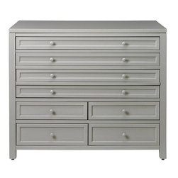 Martha Stewart Living Craft Space Eight-Drawer Flat-File Cabinet, Cement Gray - If you're a scrapbooker, these extra-long drawers are perfect for storing oversize paper.