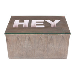 """Bahia Style - HEY Cocktail Table, Hamptons White - """"Hey"""" is a friendly greeting. We at Bahia Style like to say """"Heyyy"""" for emphasis. Hey world. Hey cat. Hey neighbor. Hey you…"""