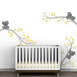 Littlelion Studio Koala Tree Branches Wall Decal - Littlelion Studio Koala Tree Branches Wall Decal