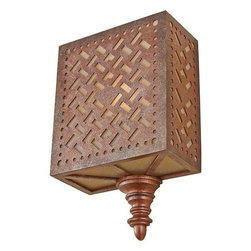 Murray Feiss - 1 Bulb Moroccan Bronze Wall Bracket - - UL Damp Approved.