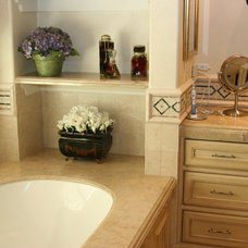 Traditional Vanity Tops And Side Splashes by Max Marble & Granite, Inc.