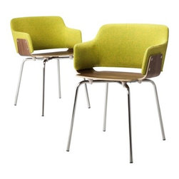Too by Blu Dot Hipper Dining Chair, Guacamole - I'm slightly obsessed with these guacamole chairs by Blu Dot. They're modern, simple and bold, and would make a beautiful statement in any room.