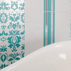 "Contemporary Tile Santorini by Dune - 10x30"" decorative ceramic wall tile"